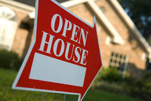 Photo of Open House sign