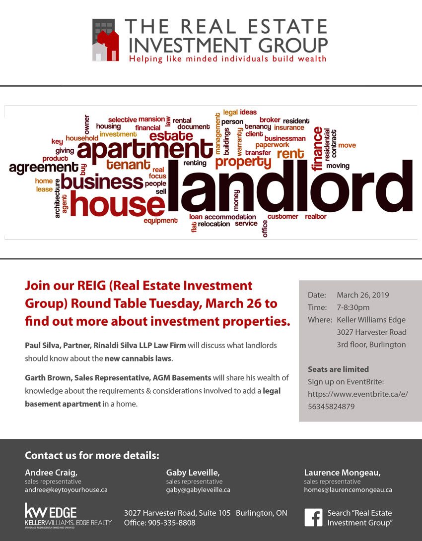 Real Estate Investment Group REIG flyer